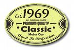 Distressed Aged Established 1969 Aged To Perfection Oval Design For Classic Car External Vinyl Car Sticker 120x80mm